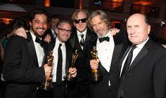 Ryan Bingham at the Oscars with Rob Carliner, T Bone Burnett, Jeff Bridges and Robert Duvall