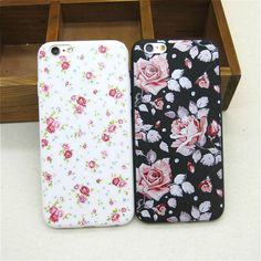 Hot Sale Beautiful Vintage Flowers Rose Soft Slim Back Covers for Apple IPhone 6 6s Silicone Ultra Thin Phone Case Shell Coque