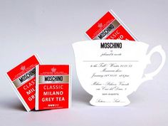 """The tea ceremony is an ancient rite behind which, there is a real life philosophy. To carry this moment always with us, Moschino propose a bag that seems a tea-cup for the spring/summer collection 2013. I loved the shoulder bag, white with some blue details. With this we can match also a """"Tea""""-shirt, with floral pattern and, obviously, a teapot -"""