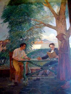 Una leccion de Andres Bello (1930) Tito Salas (Venezuela, 1887-1974)