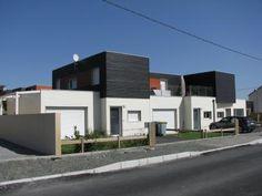 Photo Maison individuelle à étage avec bardage couleur, en permis groupé