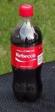 Rebecca Share a Coke with Coca Cola 20oz Soda Bottle Collectible Rare NEW Name