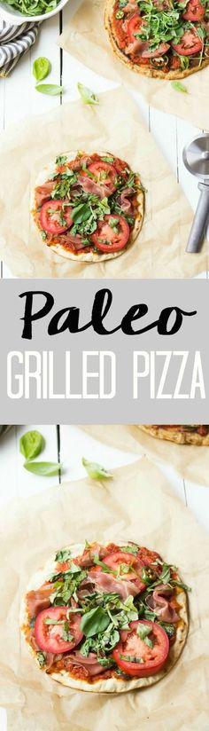 Paleo Grilled Pizza Recipe | Perfect for summer! wickedspatula.com
