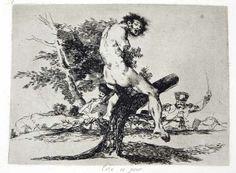 Goya grabado al aguafuerte modelacion