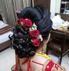 Hair style - My list of women's hairstyles Bridal Hairstyle Indian Wedding, Bridal Hair Buns, Bridal Hairdo, Indian Wedding Hairstyles, Bride Hairstyles, Hairstyles Haircuts, Layered Hairstyles, Engagement Hairstyles, My Hairstyle