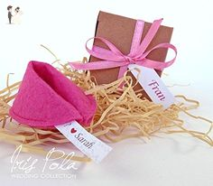 FIVE (5) Be My Bridesmaid, Felt Fortune Cookie, Bridesmaid, Proposal, Fabric, Wedding, Ribbon, Personalised, Secret Message, Paper Box, Recycled, Pink, Purple, Blue, Yellow - Wedding party invitations (*Amazon Partner-Link)