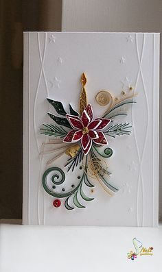 Neli is a talented quilling artist from Bulgaria. Her unique quilling cards bring joy to people around the world. Neli Quilling, Paper Quilling Cards, Quilled Paper Art, Paper Quilling Designs, Quilling Paper Craft, Quilling Patterns, Paper Crafts, Quilling Christmas, Christmas Crafts
