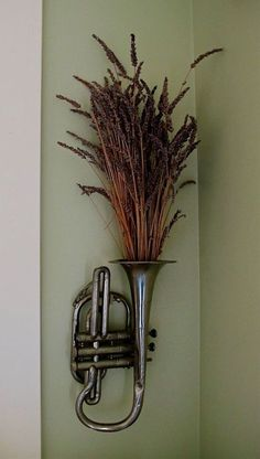 Old Cornet Filled With Aromatic Lavender