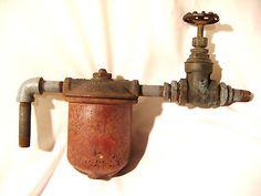 Heating Fuel Oil Filer Housing 3/8 Fitting Valve Furnace Drum Tank Steampunk Art