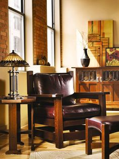 Eastwood Chair And Ottoman Craftsman Furniture Interior Style Homes Decor