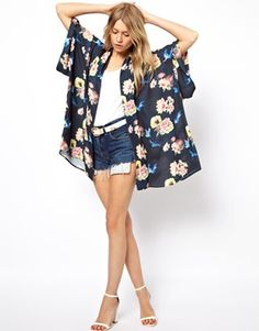 Image 4 ofLove Kimono In Floral Print