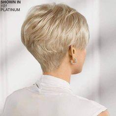 Hair Beauty - -Joyful WhisperLite® Comfort Stretch Wig by Paula Young® - Paula Young undercutBob Short Hair Back, Edgy Short Hair, Short Hair Older Women, Haircut For Older Women, Haircuts For Fine Hair, Short Hair With Layers, Cute Hairstyles For Short Hair, Hairstyles Haircuts, Short Hair Styles