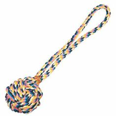 Amazon.com: Zanies 21-Inch Poly/Cotton Monkeys Fist Knot Rope Dog Toy, Large, Multi-Color: Pet Supplies