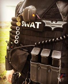 Team member running our v3 triple mag pouch and radio case along with a…