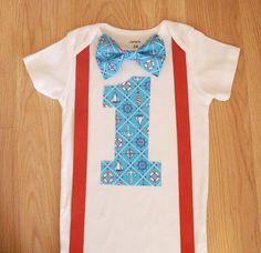 Nautical baby first birthday Outfit Anchors aweigh by kottoncactus