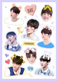 Jinyoung ❤️ Pop Stickers, Tumblr Stickers, Kpop, Bts Christmas, Graphic Design Pattern, Jinyoung, Chibi, Kawaii, Fan Art