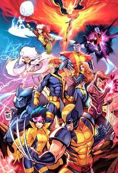 Unlimited X-Men - Marvel Universe Marvel Xmen, Marvel Comics Art, Marvel Heroes, Captain Marvel, Marvel Universe, Comic Books Art, Comic Art, X Men Personajes, Arte Nerd