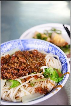 Minced pork with noodles, Tainan #Taiwan  台南 老黃陽春麵