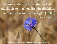 inspirierende Zitate: schöne #Zitate #Glück #SinndesLebens #derSinndesLebens Zitate - Glück