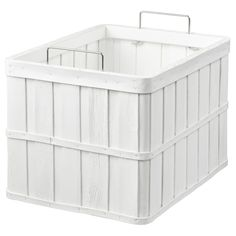 IKEA - BRANKIS, Basket, white, Storing your belongings in baskets makes it easier to be organized and find what you're looking for. This basket fits the HEMNES storage series and other furniture/storage furniture with shelves which are at least deep. Hemnes, Liatorp, Home Furniture, Outdoor Furniture, Outdoor Decor, Furniture Storage, Ikea Basket, Basket Storage, Storage Bins