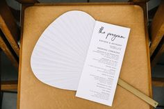 simple wedding ceremony program white card with modern black typography Wedding Program Sign, Unique Wedding Programs, Wedding Ceremony Programs, Wedding Signage, Wedding Ushers, Unplugged Wedding, Wedding In The Woods, Floral Invitation, Wedding Locations