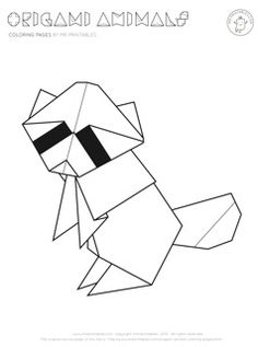 crafts for kids: origami animal coloring pages || Mr. Printables