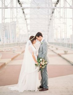 Nashville river wedding shot by Taylor Lord