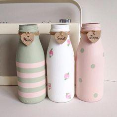 29 DIY Glass Milk Bottle Crafts Ideas #BottleCrafts