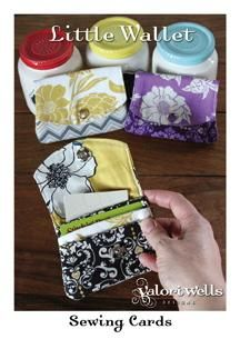 Little Wallet Small Sewing Card Pattern by Valori Wells (Clare inserted the zipper on her own!)