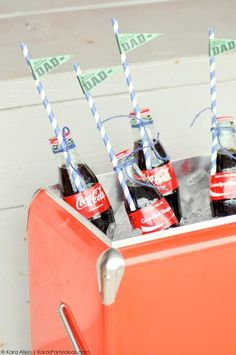 Baseball party for Father's Day by Kara Allen | Kara's Party Ideas for Coca-Cola #shareacoke #shareacokecontest_-99