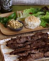 Air Fried Beef Satay with Peanut Sauce Air Fryer Recipes Wings, Air Fryer Recipes Appetizers, Air Fryer Oven Recipes, Air Fry Recipes, Cooking Recipes, Chefs, Beef Satay, Bruschetta Recipe, Fried Beef