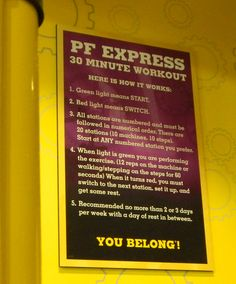 planet fitness 30 minute circuit  fitness exercise and