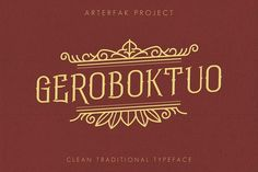 Geroboktuo by Arterfak Project on @creativemarket