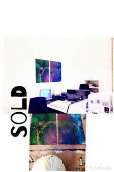 Sold!! Dittico Acrilico su legno (140x 80 cm)  Jessica Zahut  Finger painting artist