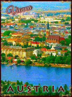 Vienna-Austria-Austrian-Europe-European-Travel-Advertisement-Art-Poster