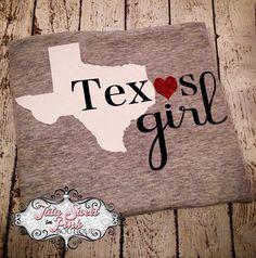 Texas Girl Shirt Choose your state! poshlittlebaby.com