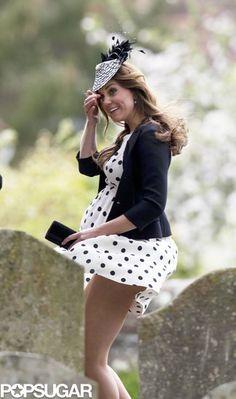 Pregnant Kate Middleton at a Wedding | Photos