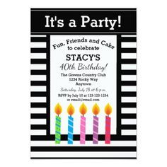 Personalized Birthday Candles Party Invitations - invitations custom unique diy personalize occasions