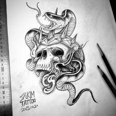 skull & snake . 예약 가능도안 . 카카오톡: burke4 . . #blackwork #blackandgreytattoo #rose #blackandgrey #blacktattoo #rosetattoo #tattoo #blacknwhite #blackandwhite #art #desgin #tattoos #tattooer #tattooed #skull #skulltattoos #drawings #홍대 #홍대타투 #뉴스쿨타투 #뉴스쿨 #스컬 #낙성대 #팔로우 #타투 #올드스쿨 #문래동 #소통 #블랙워크 #블랙