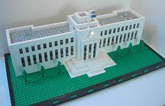 """Eccles Building, or """"Marriner S. Eccles Federal Reserve Board Building"""" (1937) in Washington, DC.  Designed in a stripped-down #Neoclassical #Architecture style by architect Paul Philippe Cret.  It is similar to the """"Fascist"""" style which was popular under Hitler, Mussolini, etc...    More info at http://en.wikipedia.org/wiki/Eccles_Building"""