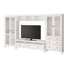 HEMNES TV-Komb. mit Vitrinentüren IKEA