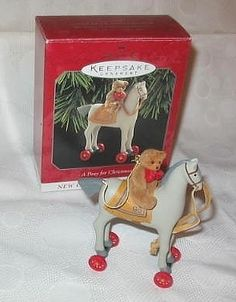 .        1998 Hallmark A Pony for Christmas Ornament 1st in Series