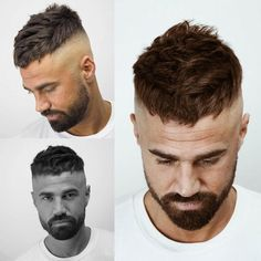 10 Men Short Hairstyles - New Season Trends - Beautiful men Mens Hairstyles With Beard, Cool Hairstyles For Men, Haircuts For Curly Hair, Hair And Beard Styles, Hairstyles Haircuts, Haircuts For Men, Curly Hair Styles, Beautiful Hairstyles, Hipster Haircut