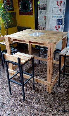 Table bistro en palettes
