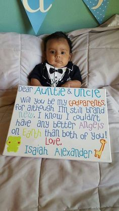 How to ask aunt & uncle to be godparents . How to ask aunt & uncle to be godparents . How to ask aunt & uncle to be godparents . Baptism Party, Baby Christening, Baby Party, Baptism Ideas, Asking Godparents, Godparent Gifts, Godparent Ideas, Baby Dedication, Baby Time
