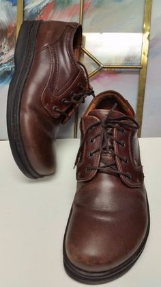 9feb93f68f1a Footprints Birkenstock 41M Brown Leather Lace Up Oxfords Shoes Womens Sz  10.5  Birkenstock  Oxfords