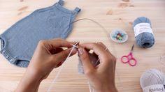 "Tricotar para bebé - ""Fofo Baleia"" - video tutorial 1ª parte (baby overa..."