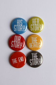 Story flair buttons by kidsmom1999 on Etsy, $6.00 #project life#flair