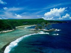 Saipan in the North Mariana Islands That little island in the center is bird island, a bird sanctuary beautiful