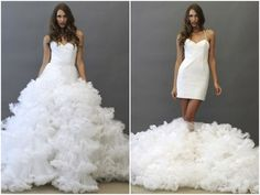 Be dancefloor ready in seconds with a transformer wedding dress. | 31 Impossibly Fun Wedding Ideas